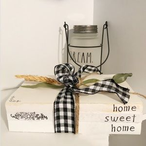 Accents - Home Sweet Home Decorative Stamped Book Stack